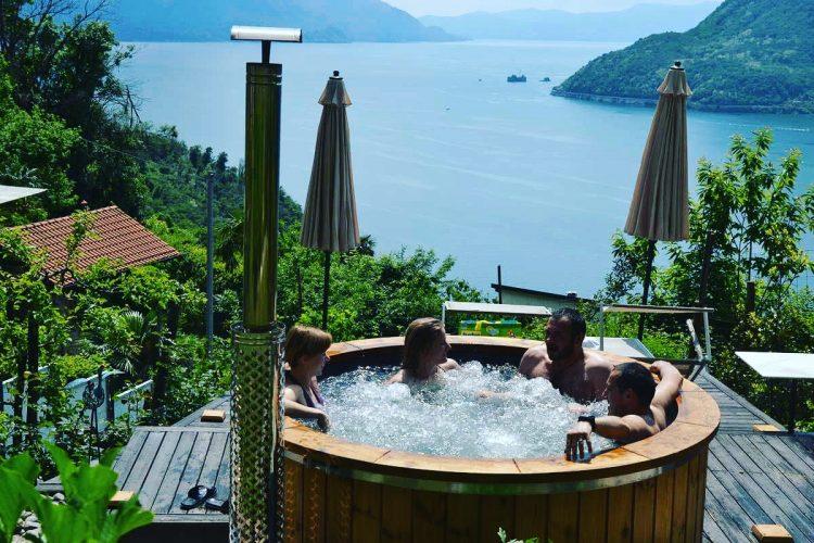 Vasca idromassaggio da esterno spa nel tuo giardino hot tubs del nord